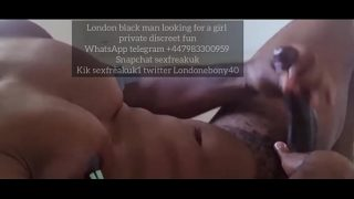 Black British cock masterdation dirty talking male orgasm cum
