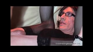 Homemade orgy with four cross dressers and two old men