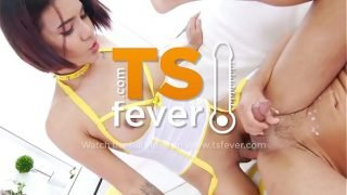 Horny TS teen dominates lucky guy
