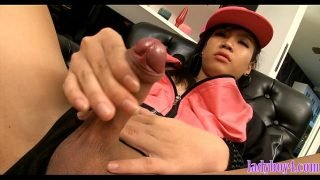 Ladyboy teen cutie from Thailand dancing and masturbating