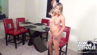 Trans Model Bella is a blonde beauty